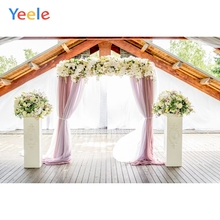Yeele Wedding Ceremony Flowers Curtains Door Decors Photography Backdrops Personalized Photographic Backgrounds For Photo Studio
