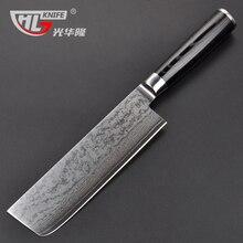 New Style  Nakiri Knife  Damascus Japanese Stainless Steel VG-10 Core 7inch Chef's Kitchen Knife Set Santoku Vegetable Knife