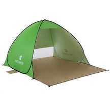 KEUMER Outdoor Beach Tent 1-2 person Pop-up Open Tent Portable Waterproof UV-protective Tent Shelter for Camping Fishing
