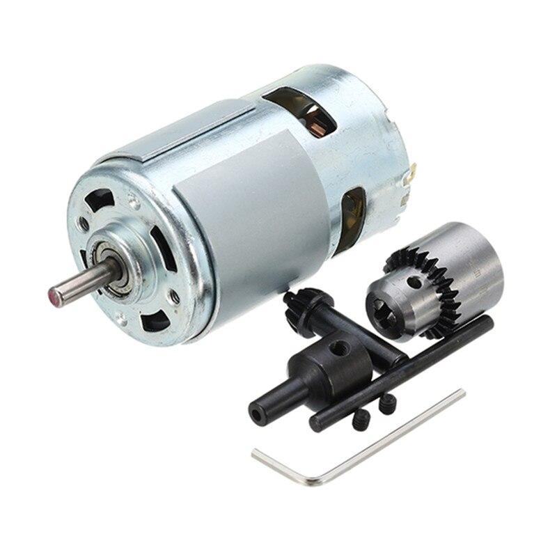 Новый В 775 Вт 100 двигатель постоянного тока 12-24 В Электрическая дрель с сверлом патрон для полировки бурения резка двигатель постоянного ток...