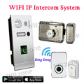 Whole Set IP WIFI Video Doorphone System Door Entry System Fingerprint Doorbell Camera+Magnetic Lock+Door Chime+Doorbell Button