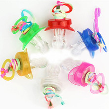 Free shipping 30pcs/lot LED Flashing Baby Party Supplies Funny Toy Light up Pacifier Whistle Survival Tool child