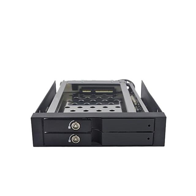 """20 pcs caixa de cartão com 2*2.5 """"SATA HDD Rack de alumínio Gabinete HDD interno"""