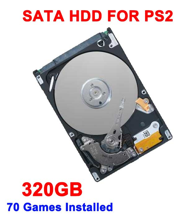 320GB 3.5 SATA Internal Hard Drive for PS2 with 70 games installed USED HDD one year warranty
