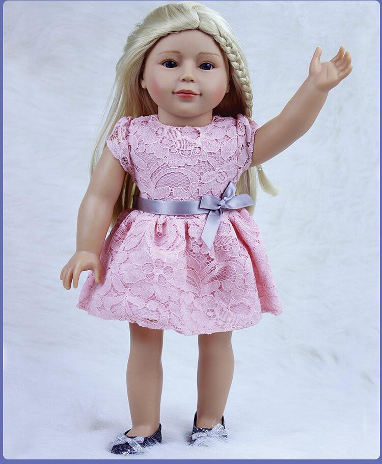 Nouveauté 2018 poupées russes Reborn 18 ''Silicone bébé poupées réalistes fille vivante jouets poupée princesse jouet pour enfant Playmates
