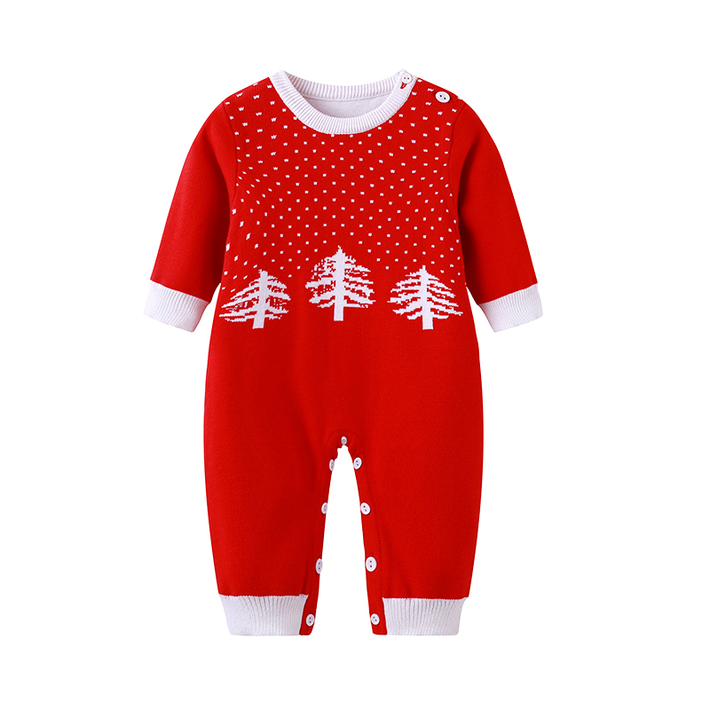 Auro Mesa New 2017 Winter Christmas infantil Baby Clothes Double Layer Knit Baby Romper Warm one-Piece Baby Jumper auro mesa christmas baby romper elk print jumpsuit cotton infant coverall outerwear baby boys hooded one piece clothes