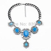 Элегантный Блестящий голубой лунный камень женщина Ожерелья для мужчин Оптовая продажа из Китая