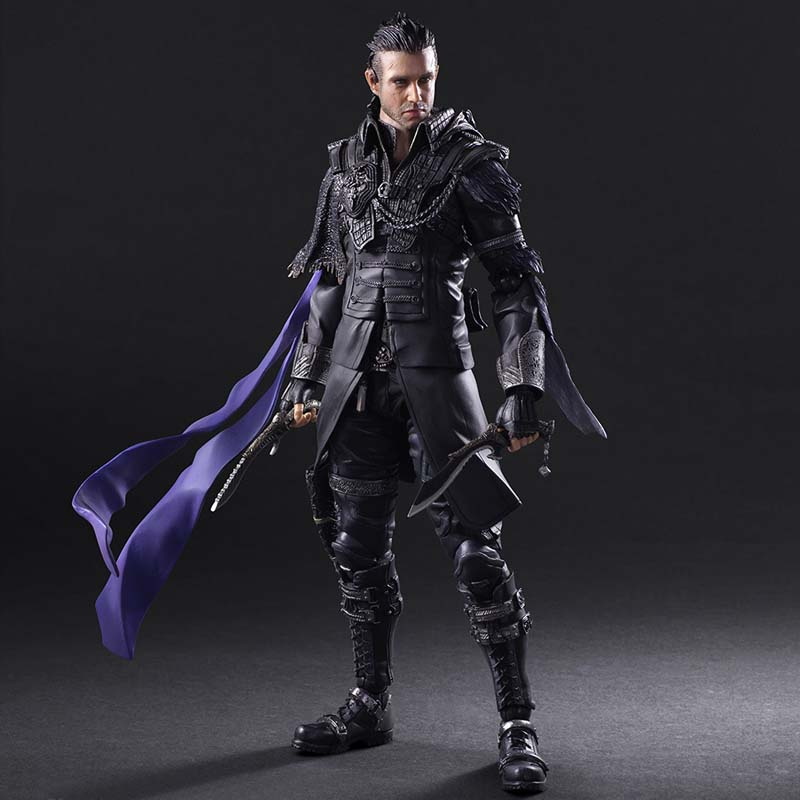Free Shipping 10 PA KAI Final Fantasy XV Kingsglaive Nyx Ulric Boxed 26cm PVC Action Figure Collection Model Doll Toys Gift new hot 18cm one piece rob lucci cp9 action figure toys collection christmas gift doll no box