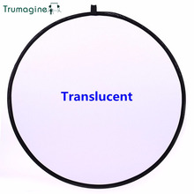 TRUMAGINE 60CM 24 Portable Collapsible Light Round Photography Reflector Translucent camera Disc For Studio