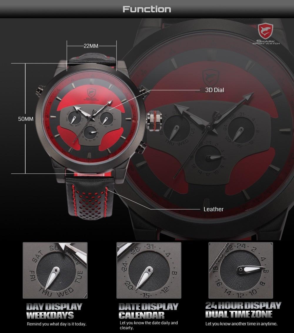 HTB19BzPFVXXXXauXVXXq6xXFXXXi - Requiem Shark Sport Watch - Red SH207