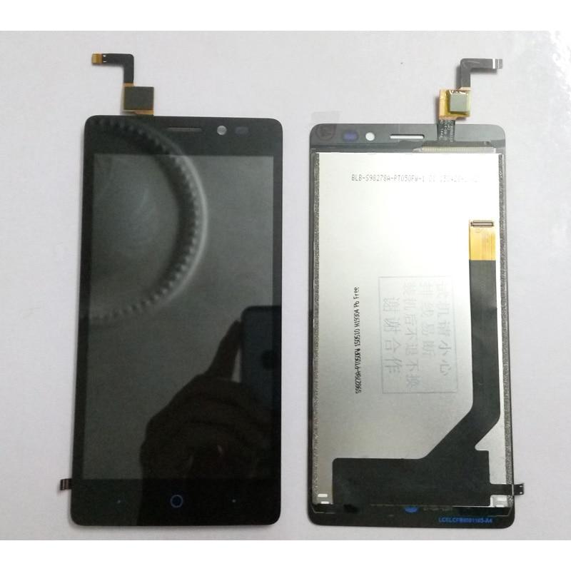 imágenes para 100% probado negro completo pantalla lcd con pantalla táctil digitalizador asamblea reemplazo para zte blade v2 lite a450 envío gratis