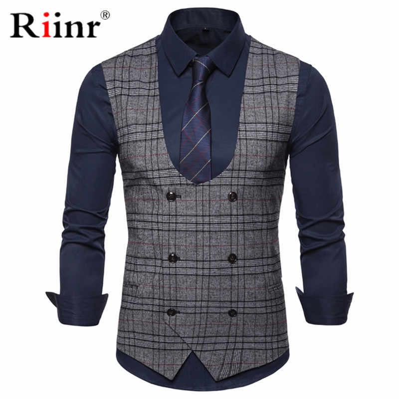Spring Autumn Dress Vests For Men Slim Fit Mens Suit Vest Male Waistcoat Gilet Homme Casual Sleeveless Formal Business Jacket