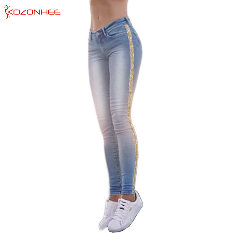Plus Size Elastic Jeans For Women With Ms
