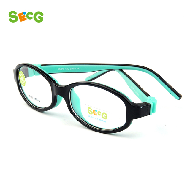 1f3e13ac1c SECG Detachable Solid Baby Kids Optical Glasses Frames Myopia Diopter Soft  Flexible Children Frames Eyewear Frames Lunette