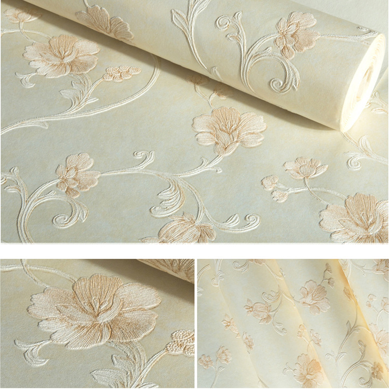 American Wallpaper Flower for Bedroom Walls Wallpaper Flower 3D Non Woven Wallpaper Roll 3D Wallpaper Wall Mural for Living Room non woven wallpaper roll vintage american rustic wallpaper 3d wall mural for bedroom walls vine flower wall papers home decor
