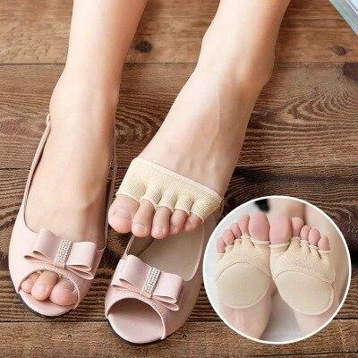 79aca6448f Imucci Hot Nova moda das Mulheres Meias Meias Finas de Verão Chinelos de  Dedo Aberto Meias Toe Feminino Invisível Não-Slip Conjunto