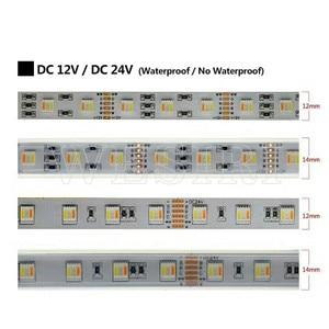Image 3 - 5M RGBCCT 5IN1 LED Streifen Licht RGB + Weiß + Warm Weiß 60LEDs/m 5050 SMD Dual weiß Temperatur Einstellbar 12MM PCB DC12V/24V