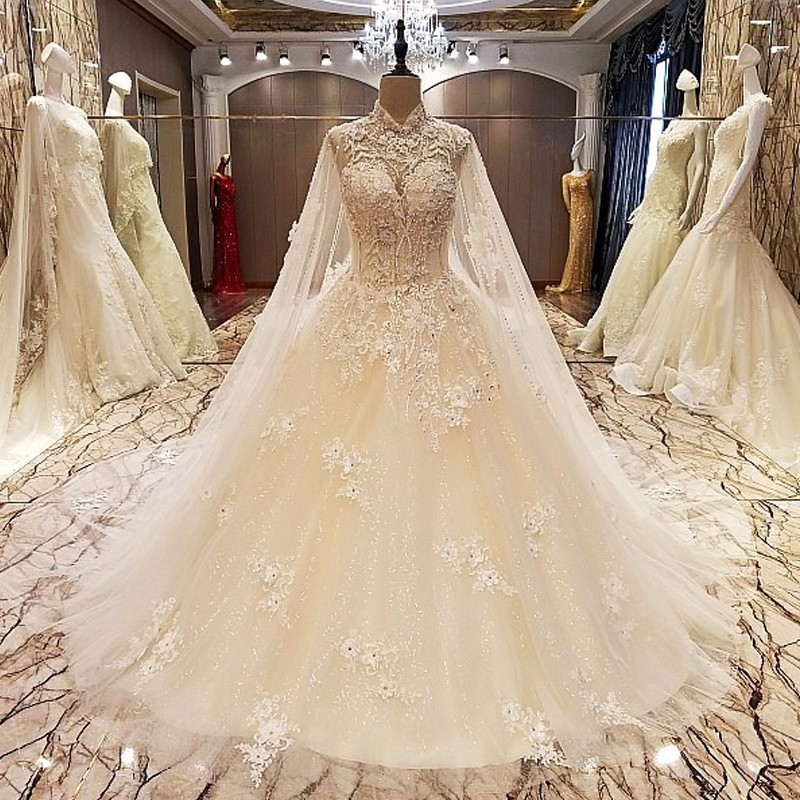 Wedding Gown Wraps: Backlake Luxury Sleeveless Shawl Yarn Lace Train Wedding