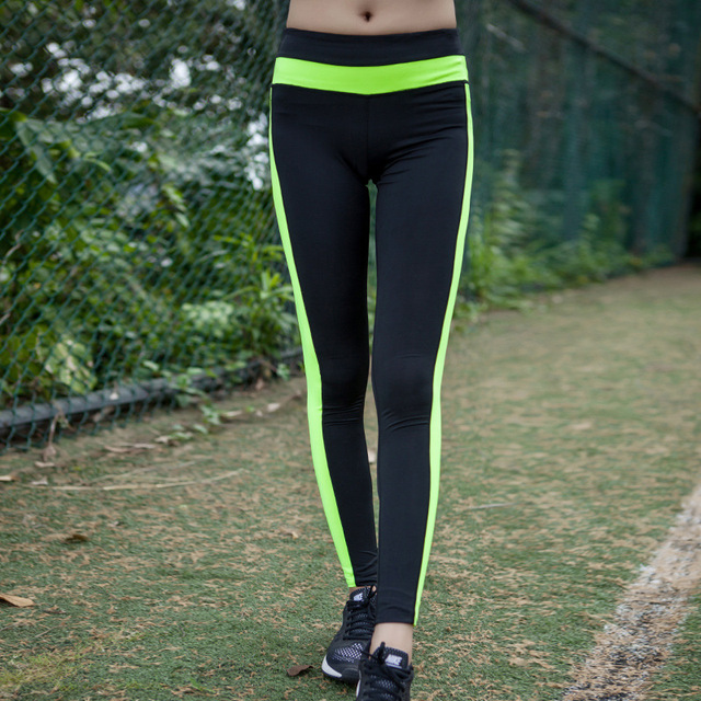 2016 New Fashion Sexy Stretched  Clothes Quick-Drying  Womens Sportswear Leggings Fitness Active Pants Y25109