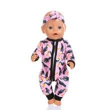 Новые комбинезоны подходят для 43 см Baby Doll 17 дюймов Born Doll Одежда