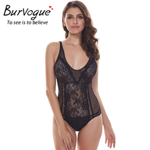 Burvogue Women Sexy Teddies Lingerie Halter See Through Nightwear Lace Backless Sleepwear Erotic Lingerie Bodysuits Underwear