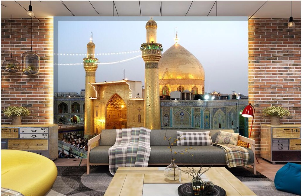3d wallpaper custom photo The imam ali mosque in the city decorative painting room wallpaper for walls 3d wall murals wallpaper