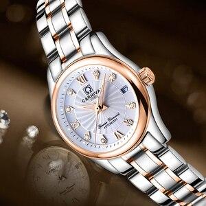 Image 2 - カーニバル女性の腕時計高級ブランド自動機械式時計サファイア防水レロジオ feminino C 8830 8