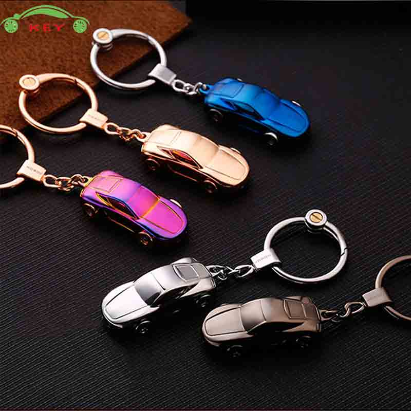 Upscale LED Light Car Key Ring Auto Motorcycle Business Keychain For Audi Volvo Mazda Lada Fiat Opel Subaru Ducati KIA Keyring