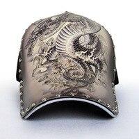 Original 3D Printing Chinese Style Dragon Peafowl Elephant Skull Eagle Baseball Cap Men WOMEN Fashion Snapback