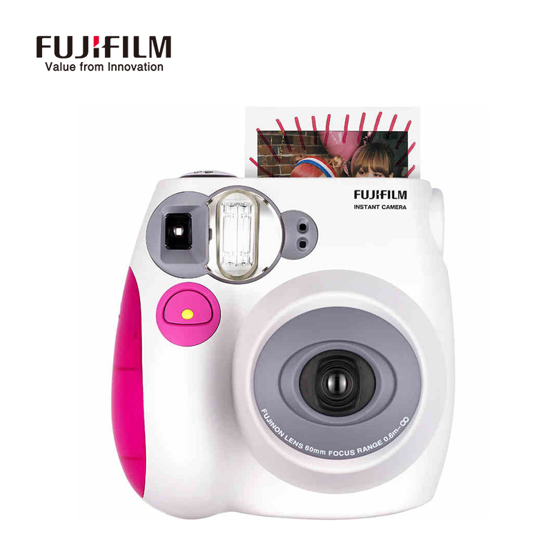 New 2016 fashion Single Use camera Fujifilm Instax Mini 7s Instant Film Photo Camera Fuji Mini 7s Blue Pink Hot Sell two color 5 packs fuji fujifilm instax mini instant film monochrome photo paper for mini 8 7s 7 50s 50i 90 25 dw share sp 1 cameras