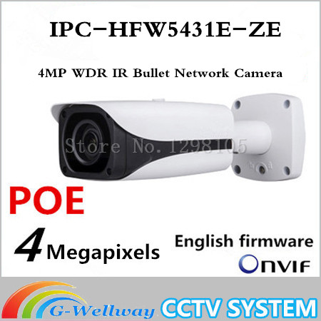Dahua Original English version IPC-HFW5431E-Z 4MP WDR IR Bullet Network Camera IPC-HFW5431E-Z, free DHL shipping 15pcs lot free dhl shipping dahua 3 0mp 2 7mm 12mm motorized network ir bullet camera security ir water proof ipc hfw2300r z