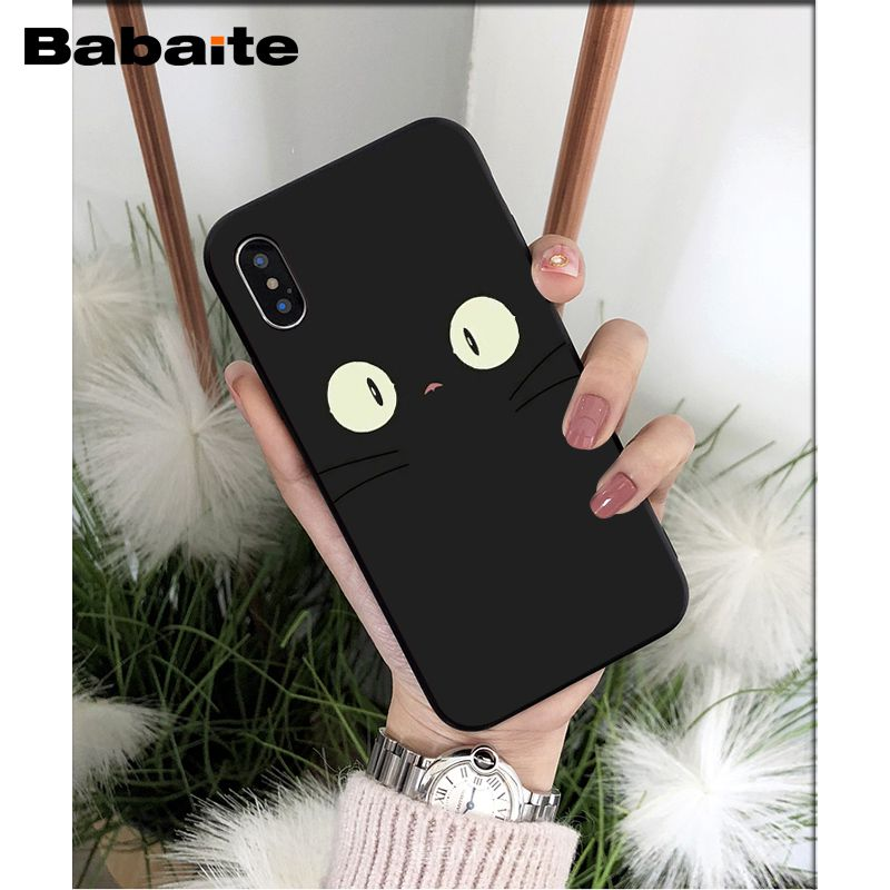 Us 0 95 23 Off Babaite Meow Lovely Cute Cat Tpu Soft Phone Accessories Cell Phone Case For Iphone X Xs Max 6 6s 7 7plus 8 8plus 5 5s Se Xr In