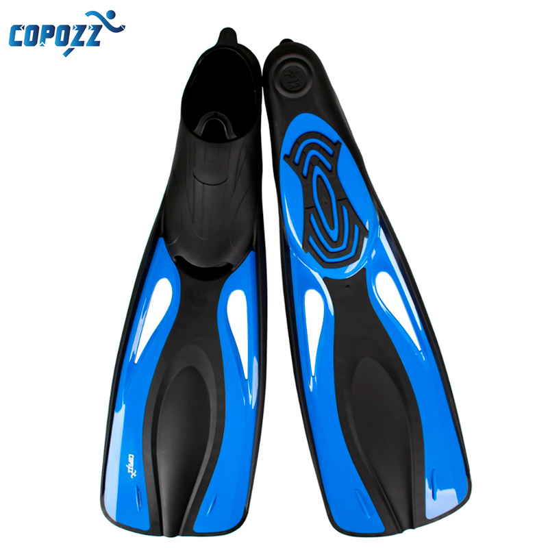 Copozz Long Swimming Fins Webbed Diving Flippers Webbed Training Pool Aletas Nadadeira Men Women boots shoes