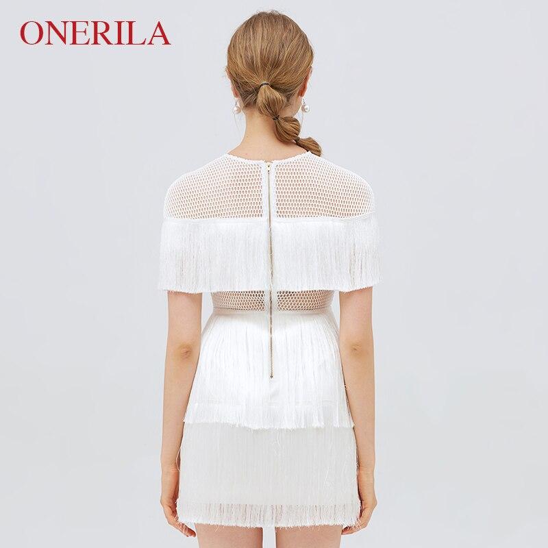 Sexy Mini Robe Coréenne Élégant Slim Femmes 2018 Blanc Out Courtes Cou Manches O Gland Onerila Mode D'été Creux Robes Partie À 5aYYq