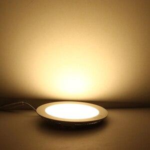 Image 5 - 울트라 얇은 led 통 패널 빛 라운드 AC85 265V 3 w 6 w 9 w 12 w 15 w 18 w 거실, 부엌 침실 로비 led 패널 빛