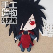 Nova boneca naruto uchiha madara anime, boneca de pelúcia artesanal, brinquedo, chaveiro, presente, cos japonês