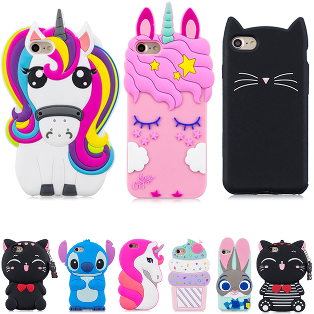 competitive price f537d 67be6 US $2.26 16% OFF|3D Cartoon Pink Unicorn Case For Samsung Galaxy Core Prime  G360 G360H G361 G361H Cute Cat Soft Silicone Phone Cover-in Fitted Cases ...