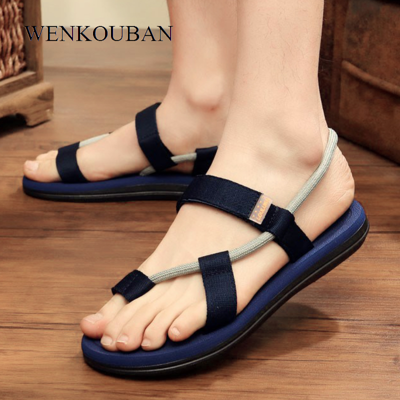 Gladiator Sandals Shoes Flats-Slippers Flip-Flops Male Casual Summer Roman Adult On Zapatos