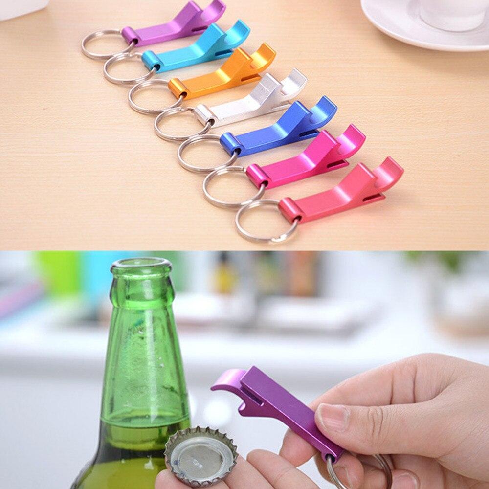 Beer Bottle Opener Keychain 4 In 1 Pocket Aluminum Beer Bottle Opener Can 8 Colors Wedding Unique Creative Gift