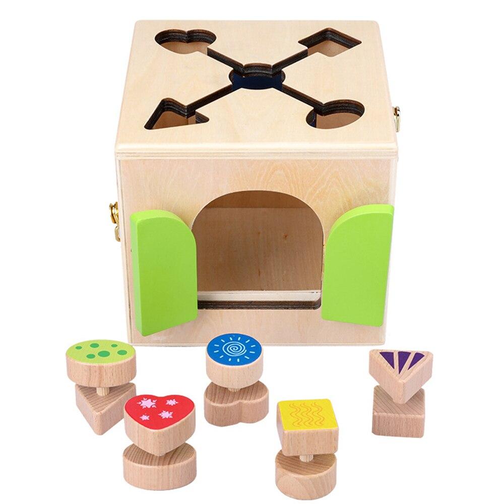 Montessori jouets serrure boîte Montessori éducatif en bois jouet bois jouets sensoriels Montessori matériaux 3 ans enfants jeux cadeaux