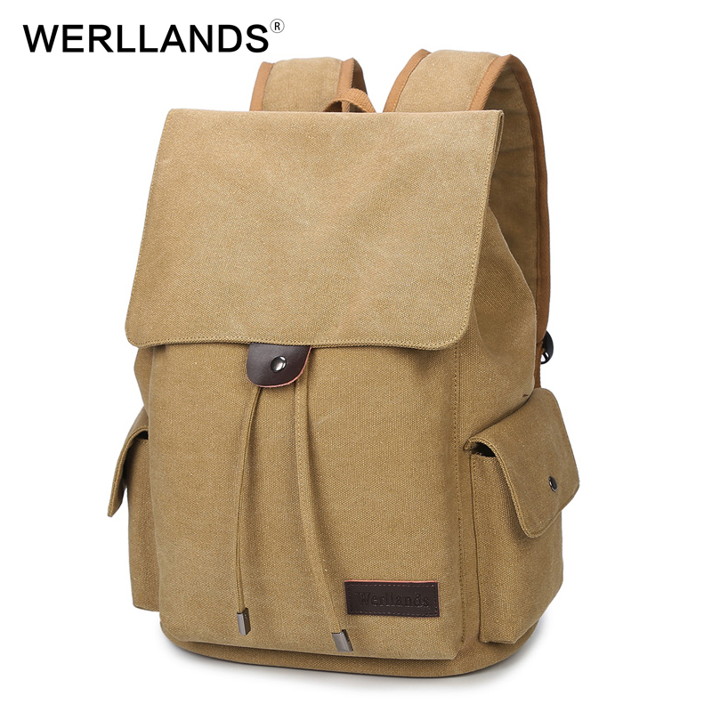 Здесь можно купить   WERLLANDS Vintage Backpack Bag Retro Canvas School Bags For Teenagers Large Capacity bagpack kids School Laptop Bagpack Daypack Камера и Сумки