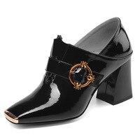2019 г. новые уникальные два способа ношения, брендовая кожаная женская обувь, модная женская обувь на высоком каблуке с квадратным носком и м