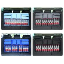 Oxford Fabric Auto Vehicles Van Car Backseat Trunk Car Trunk Hanging Storage Bags Food Bottle Multi-Use Tools Organiser Mesh Bag