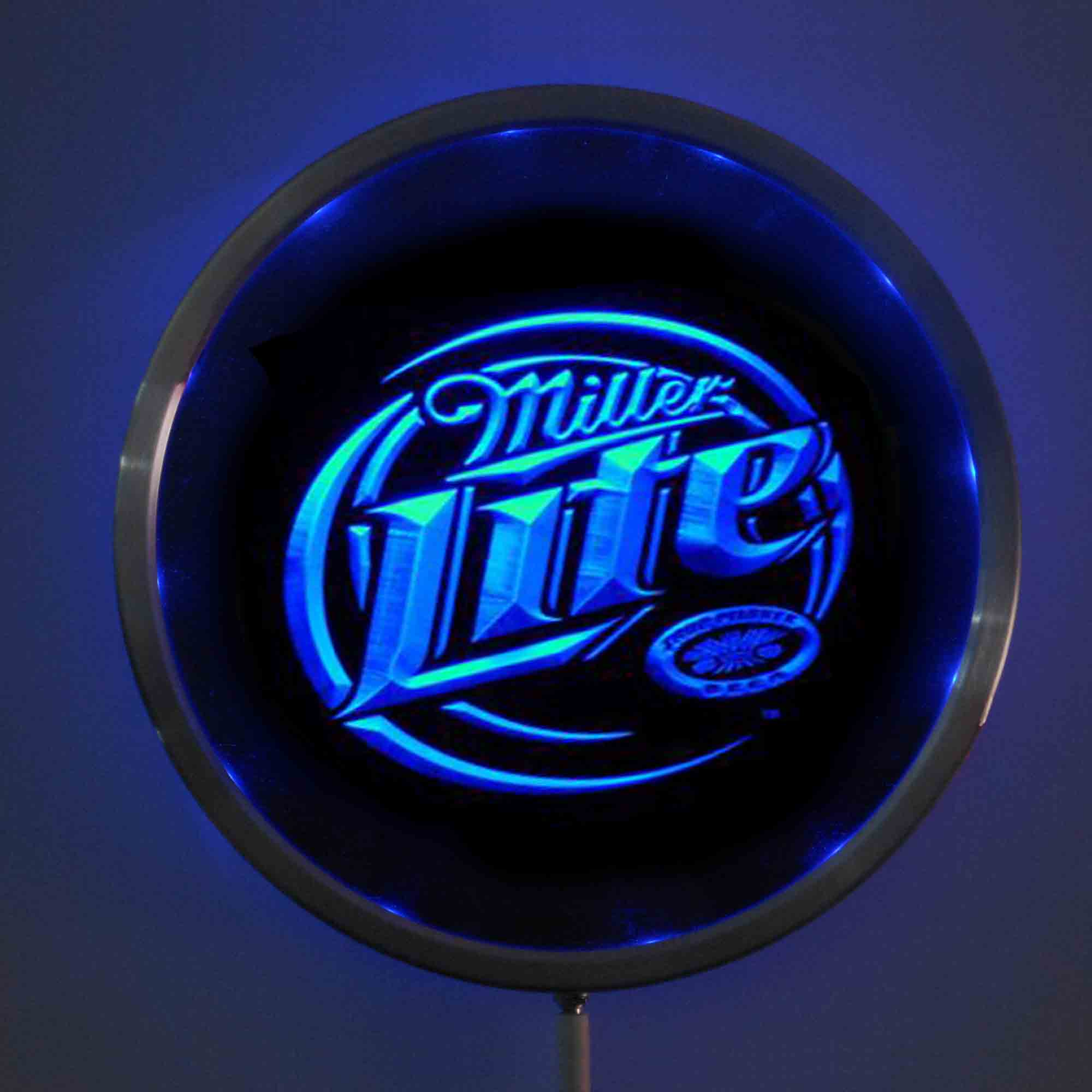 rs a0016 Miller Lite Beer LED Neon Light Round Signss 25cm