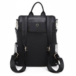 Image 2 - Fashion Anti theft Women Elephant Print Backpacks Ladies Large Capacity Shoulder Bags Waterproof Oxford and PU School Travel Bag