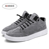 ARANSUE spring autumn Vulcanized shoes mens flats hip hop casual shoes telescopic buckle sneakers breakdancing winter male shoe