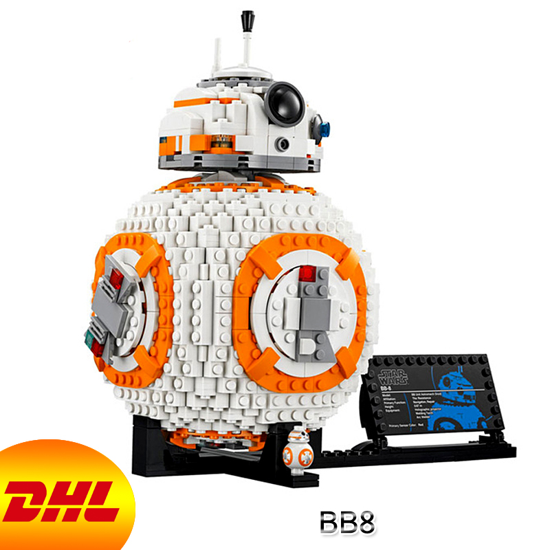 HF Star Wars Figures 1238Pcs BB8 Model Building Kits Blocks Bricks Educational Toys For Children Gift Compatible With 75187 10646 160pcs city figures fishing boat model building kits blocks diy bricks toys for children gift compatible 60147