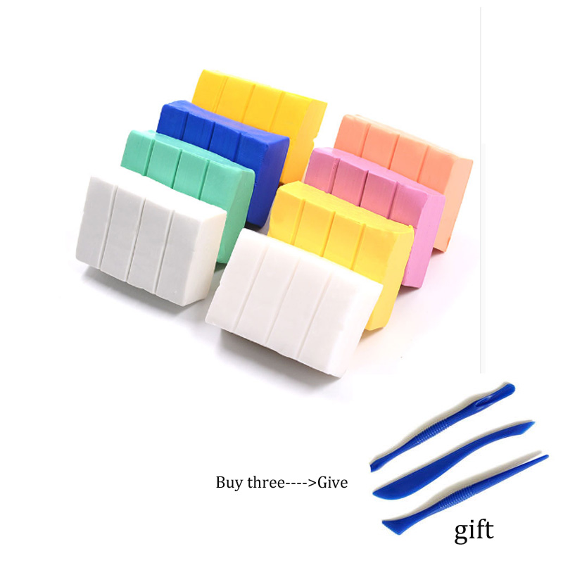Soft Ceramics Polymer Clay 12 Colored Clay 60 Grams Per Block DIY Handmade Material Heating Fixation Gift Tool Sealed Package