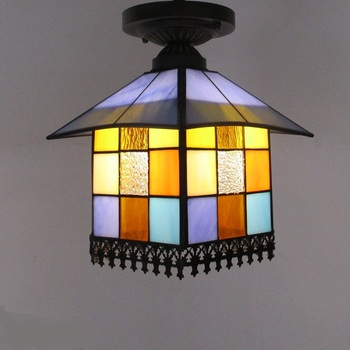 lightsmall corridor ceiling lamps balcony lamp lights door color bar Mediterranean boutique stair lamp porch  ZA DF1