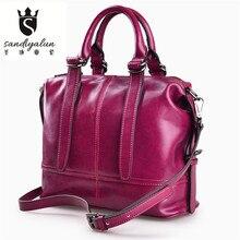 2017 New Luxury Handbags Genuine Leather Women Bags Designer Ladies Messenger Bags Female Real Leather Handbags